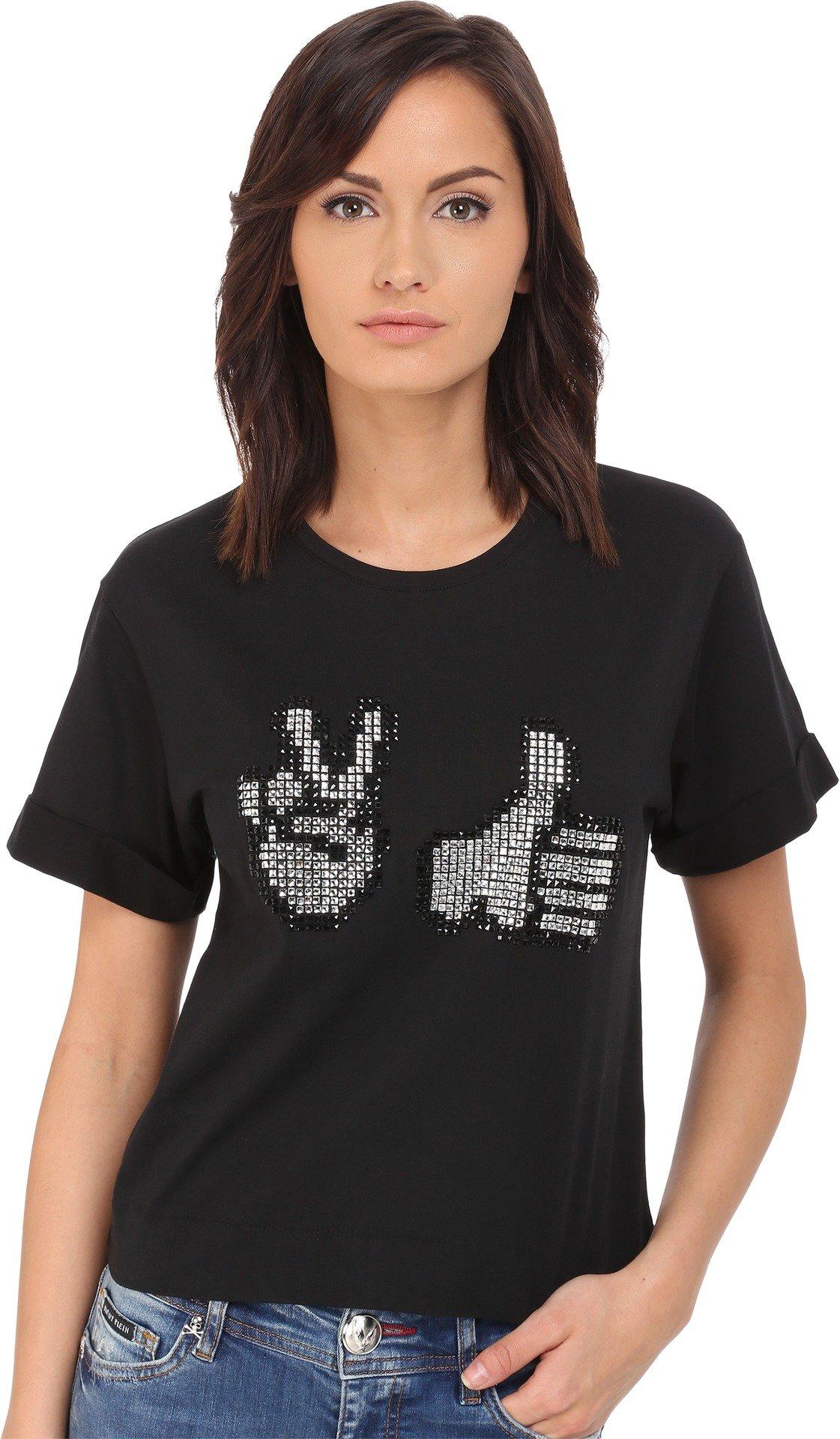 Philipp Plein Women's Thumbs Up T-Shirt Black LG