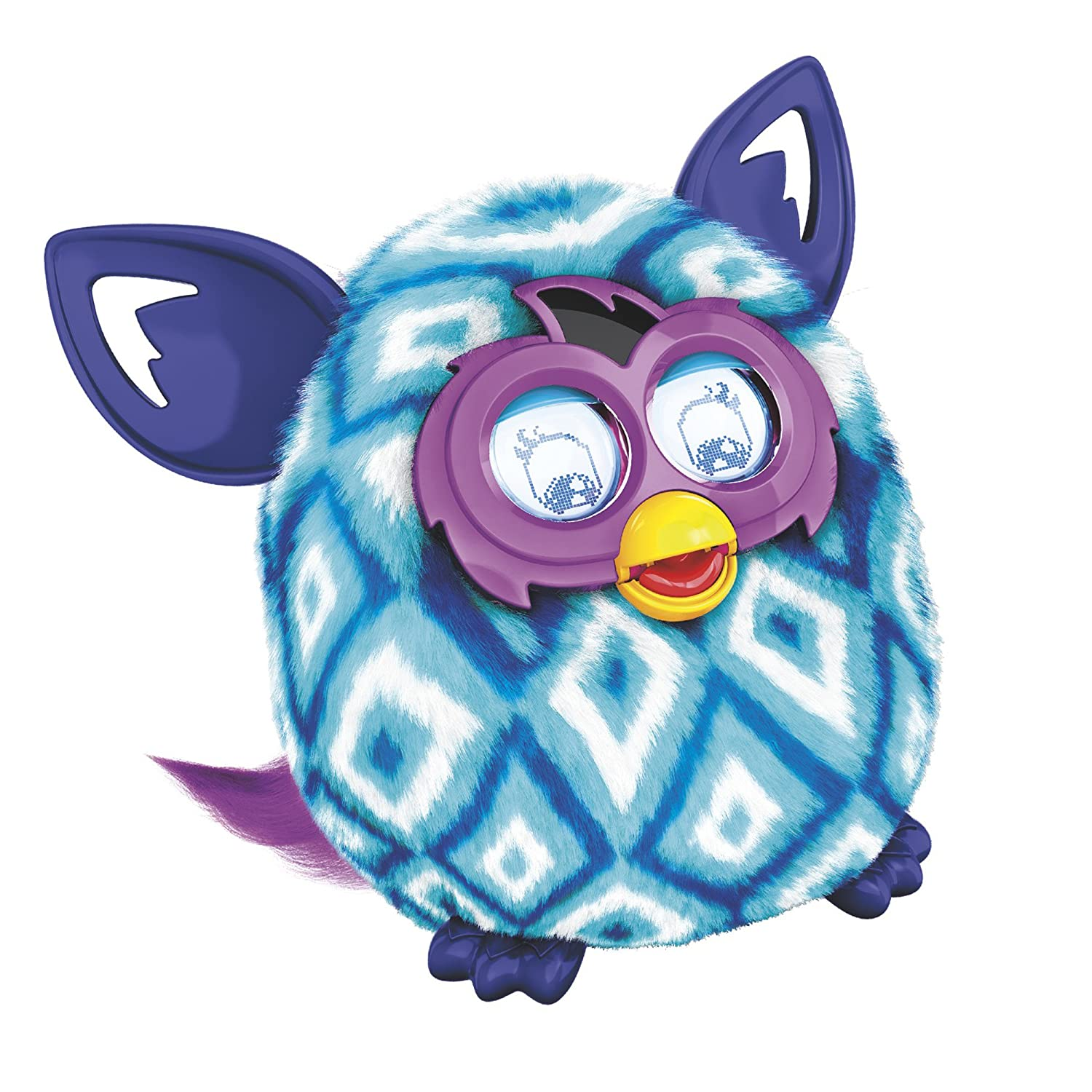 Amazoncom Furby Boom Blue Diamonds Plush Toy Toys  Games