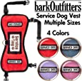 "barkOufitters Service Dog Vest Harness and 5 Sizes (Red, XS (21"" - 26"" Girth)"