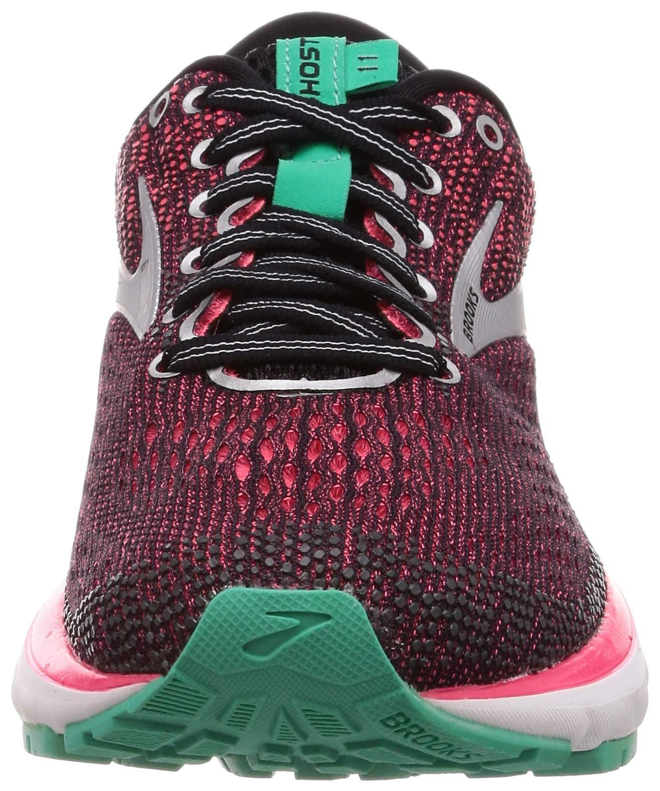 Brooks Womens Ghost 11 Running Shoe - Black/Pink/Aqua - D - 5.0 by Brooks (Image #4)