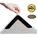 Rug Gripper, Anti Slip Rug Pad Keeps area Rug In Place, Anti Curling Carpet Gripper Flattens Corners & Edges, Reusable Double Sided Adhesive Rug Gripper Tape for Kitchen Bathroom & Outdoor, No Residue