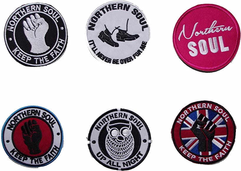 Northern Soul Wigan Casino Keep The Faith Iron On Embroidered Patch