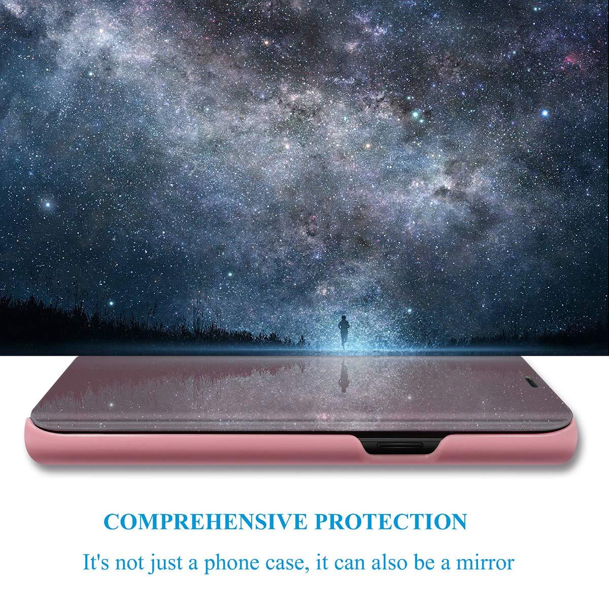 H/ülle f/ür Samsung Galaxy J7 2016 Handyh/ülle Spiegeln PU Leder Flip H/ülle St/änder Translucent View Spiegel /Überzug PC Schutzh/ülle mit Hart Standfunktion f/ür Samsung Galaxy J7 2016