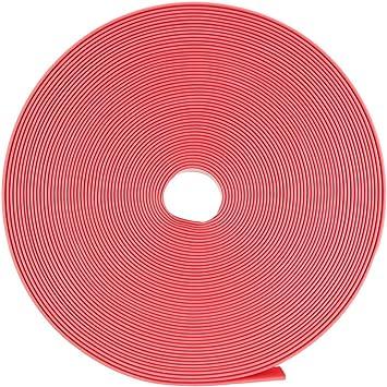 Ratio 2:1 10mm Dia Trasparente Guaina Poliolefina Termorestringente 10m