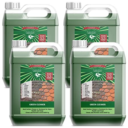 4x5L Lancelot Green Cleaner For Driveways, Roofs, Walls, Decking, Patios  And More