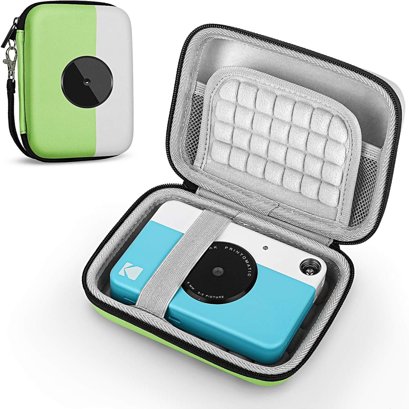 Fromsky Case for Kodak PRINTOMATIC/Smile Instant Print Digital Camera, Travel Carry Case Protective Cover (Green)