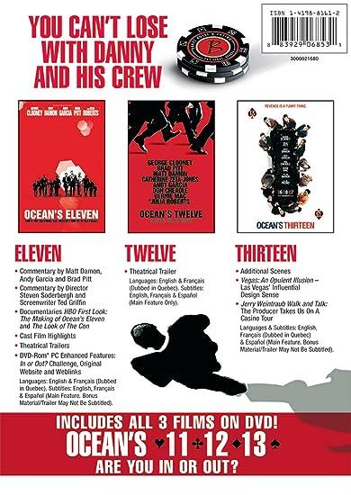 Oceans Eleven Twelve & Thirteen [Reino Unido] [DVD]: Amazon.es: Cine y Series TV
