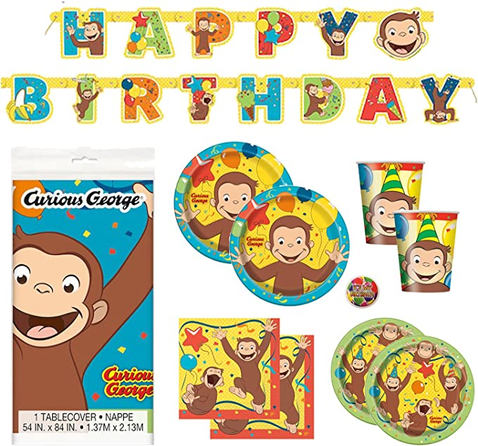 Amazon.com: Curious George Deluxe - Pack de suministros para ...