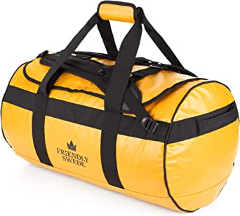 The Friendly Swede Duffel bag with Backpack Straps for Gym, Travel and Sports - SANDHAMN Duffle Waterproof Material