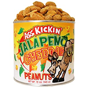 ASS KICKIN' Jalapeno Cheddar Peanuts – 12oz - Ultimate Gourmet Gift Peanuts - Try if you dare!