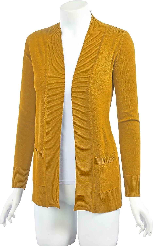 MBJ Womens Open Front Draped Knit Shawl Cardigan