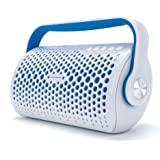 Zen Logic ZL-BBB Bluetooth Stereo Boombox for Universal/SmartPhones - Retail Packaging - Blue & White