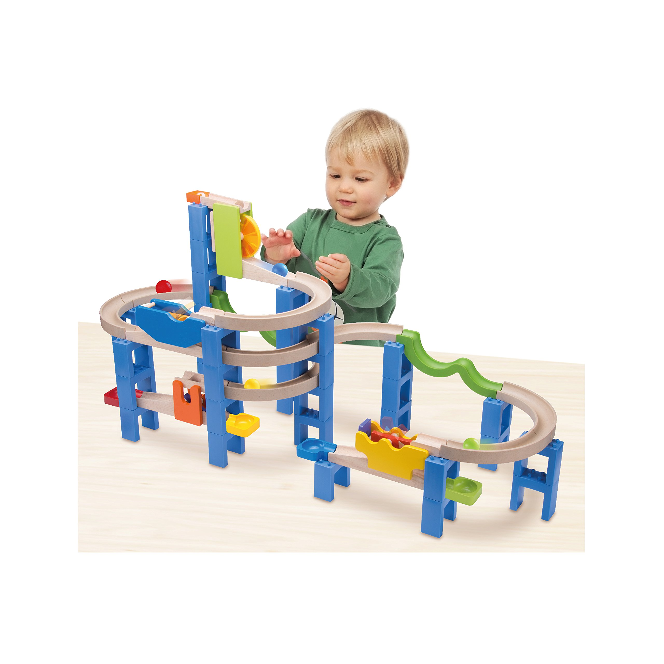 Wonderworld Creative Gravity Play! Trix Tracks Spiral Coaster Track - 54 Piece Set Unique Kids Toy with Endless Building Options