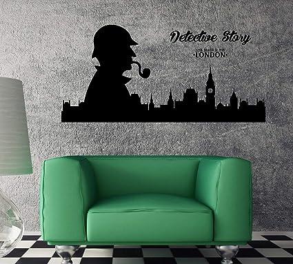 Amazon com: Amazing Vinyl Wall Decal London Sherlock Holmes
