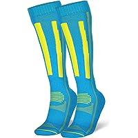 Alpine Ski Performance Socks for Men & Women, Merino Wool, Skiing, Snowboarding, Winter Sports, Knee-High 1-Pack
