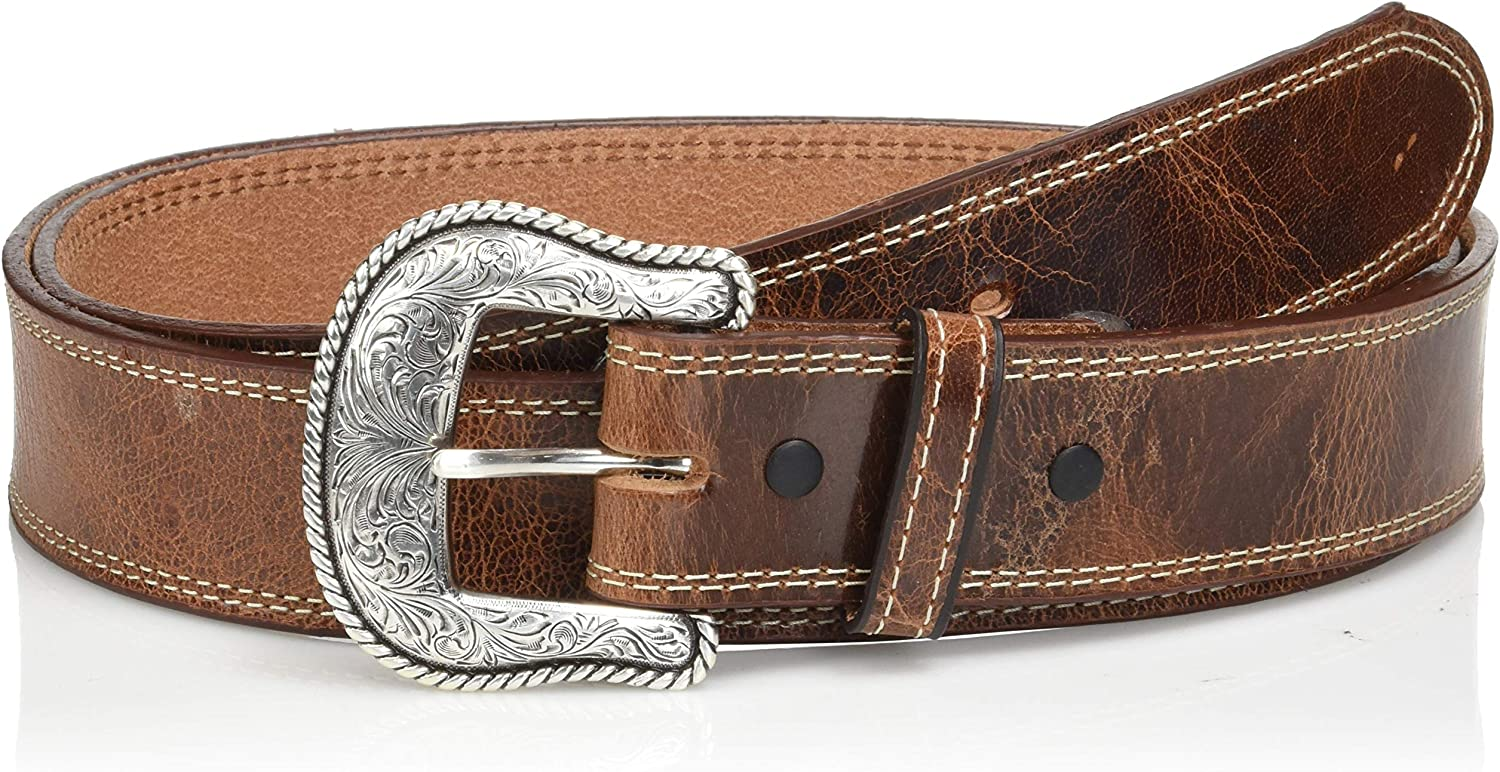 Nocona Belt Co Mens Nocona Austin USA Double Stitch Work Belt