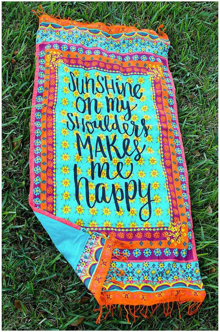 DCY Letras impresas toalla de playa Bote Tapiz Hippy Boho poliéster Mantel Beach Yoga Mat Square: Amazon.es: Hogar