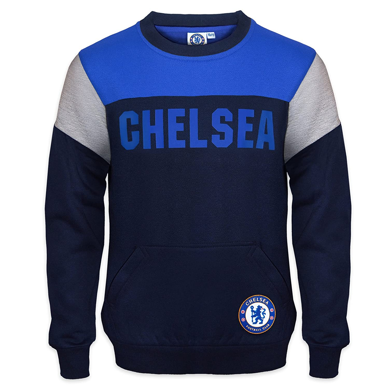 the best attitude d5976 12332 Chelsea FC Official Soccer Gift Boys Crest Sweatshirt Top Navy Blue