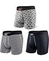 Saxx Mens Vibe 3 Pack Boxers Underwear