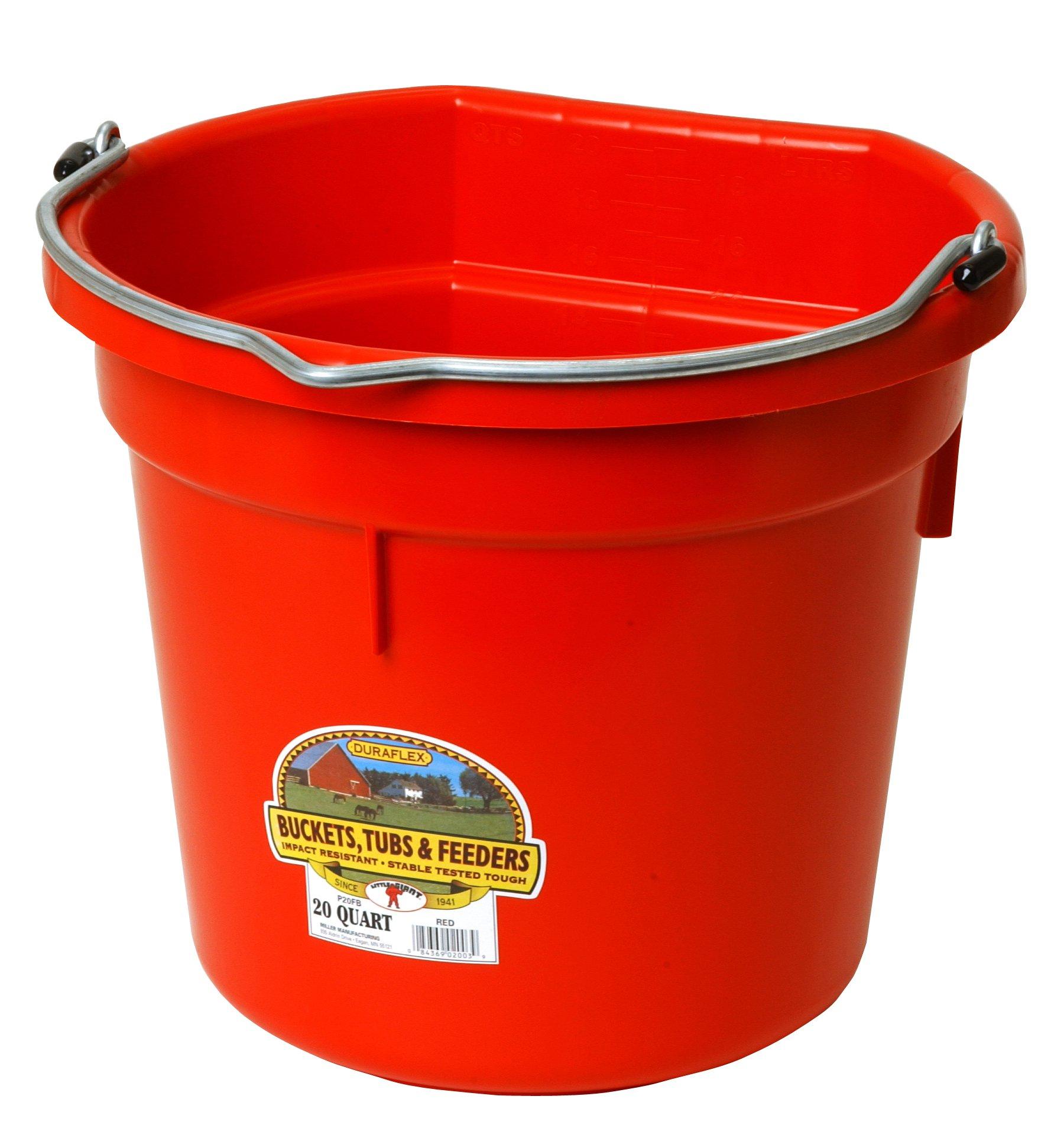 Miller Manufacturing Co. P20FBRED 20 QT Flatback Bucket