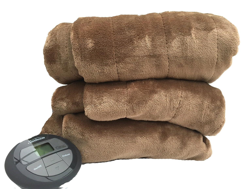 # 1 venta Sunbeam manta eléctrica, Premium suave terciopelo manta, 1 controlador, 10 posiciones de ajustes de calor Incluyendo precalentar, ...