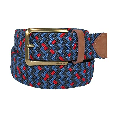 efa257e18 ToMMy Hilfiger Men's 35MM Elastic Belt 44 Navy / Red: Amazon.co.uk ...