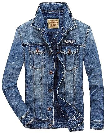 74bef0eb DHYZZ Men's Big & Tall Western Style Unlined Denim Jacket Regular Fit (XX- Large