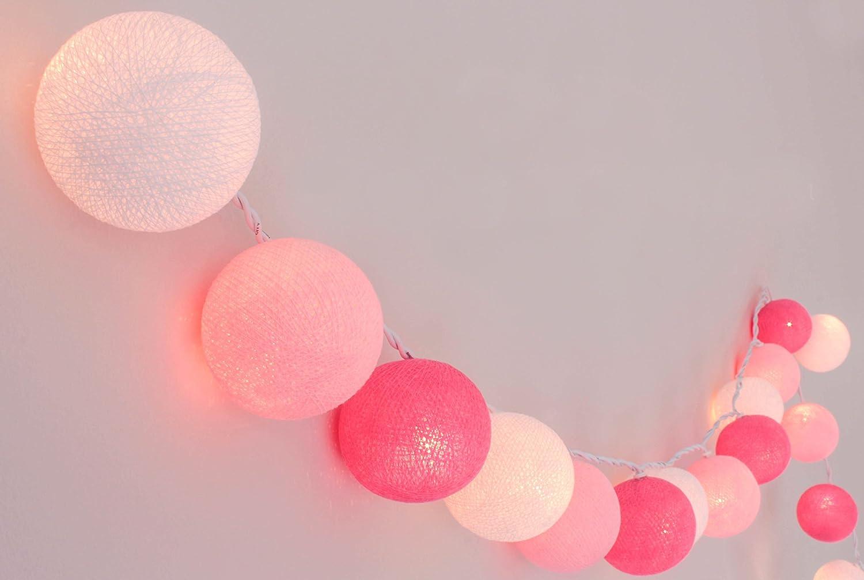 Cadena de luces LED para cuarto de niña, con bolas de algodón ...