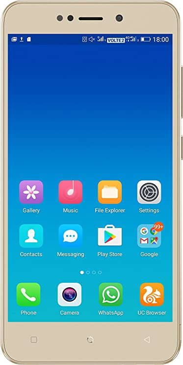 Gionee X1 (Gold, 16GB) Smartphones at amazon