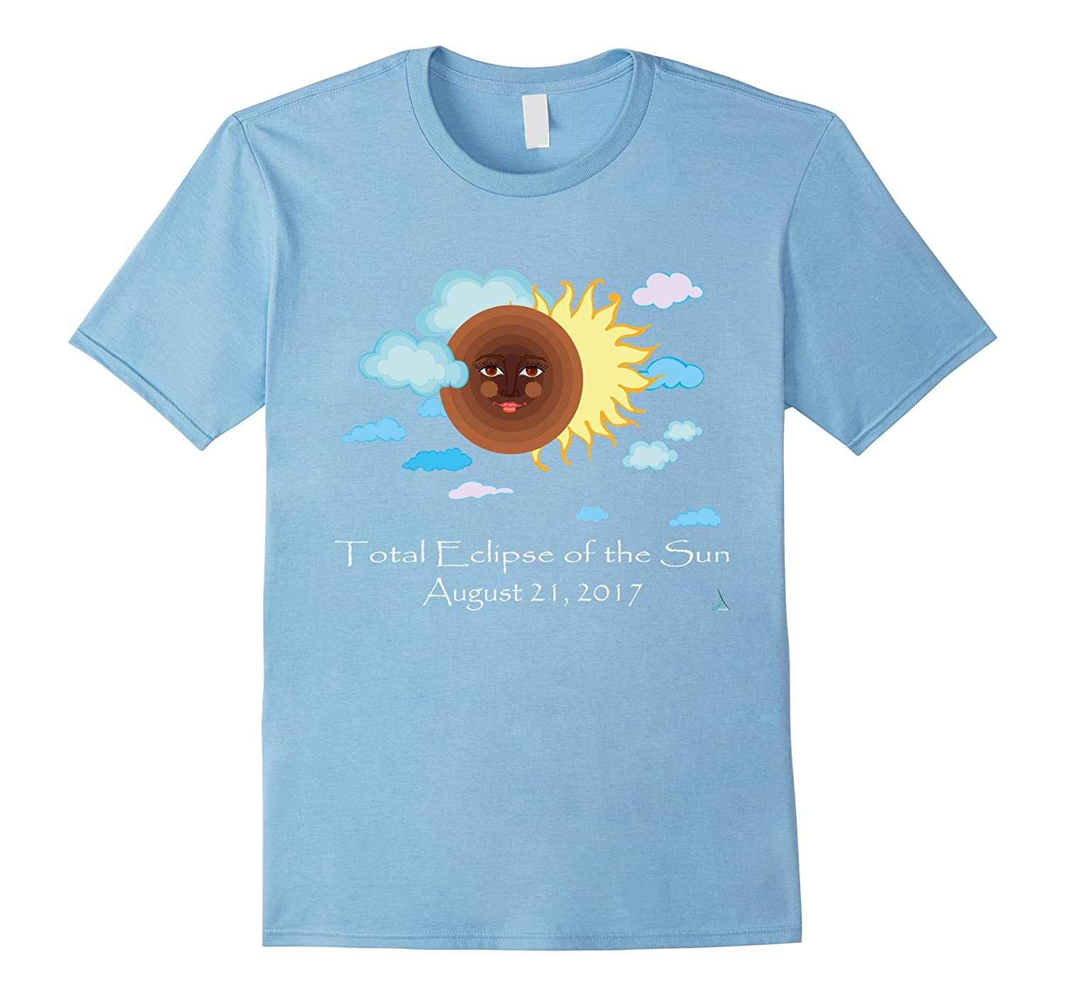 Total Eclipse of the Sun August 21 2017 Moon Face T Shirt-Teehay