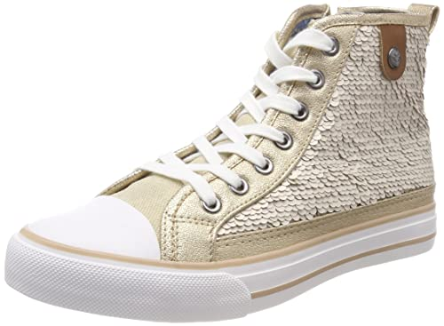 Fritzi aus Preussen Hanna Toe Cap Sneaker Sequin, Zapatillas Altas para Mujer, Plateado (Silver), 41 EU Fritzi Aus Preußen