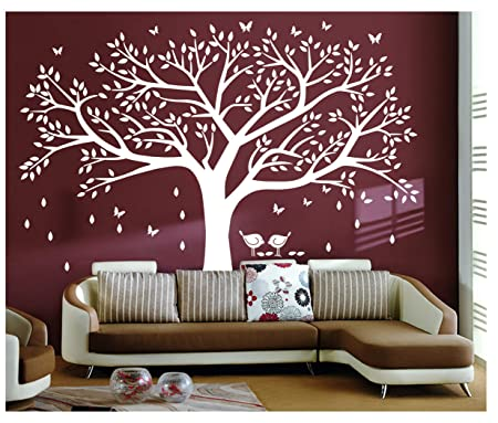 Bdecoll Tree Wall Sticker Art,Large Diy Family Tree Wall Art Paper ...