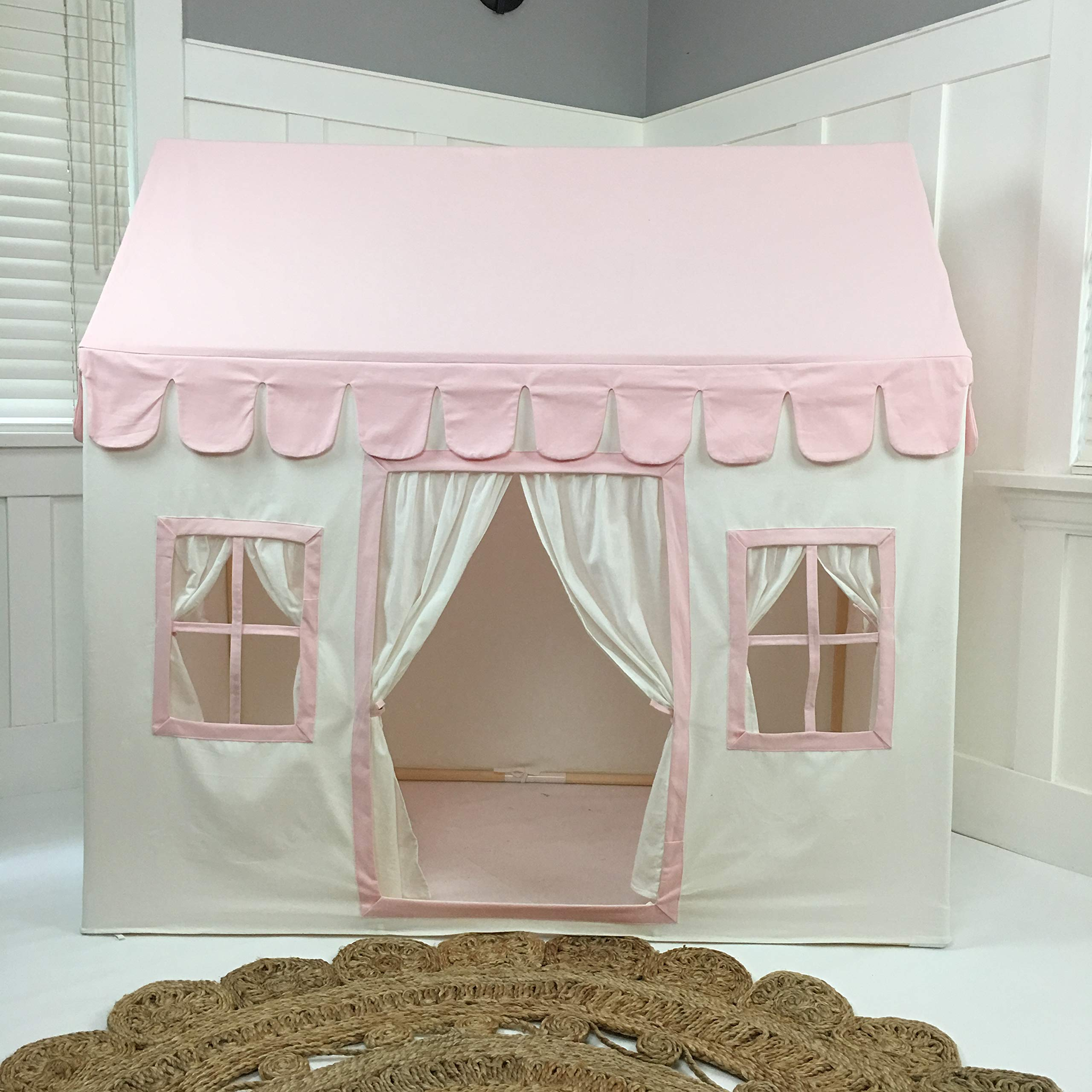 Domestic Objects Children's Playhouse. Handmade with 100% Cotton Premium Quality. Pink by Domestic Objects (Image #5)
