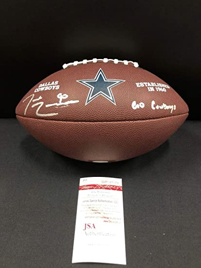 6ff6a9ba3 Image Unavailable. Image not available for. Color  Demarcus Lawrence Dallas Cowboys  Autographed Signed Logo Football - JSA Authentic Memorabilia Witness ...