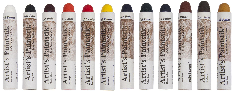 Jack Richeson 121502 Shiva Oil Paintstik, Professional Colors, Set of 12 by Jack Richeson