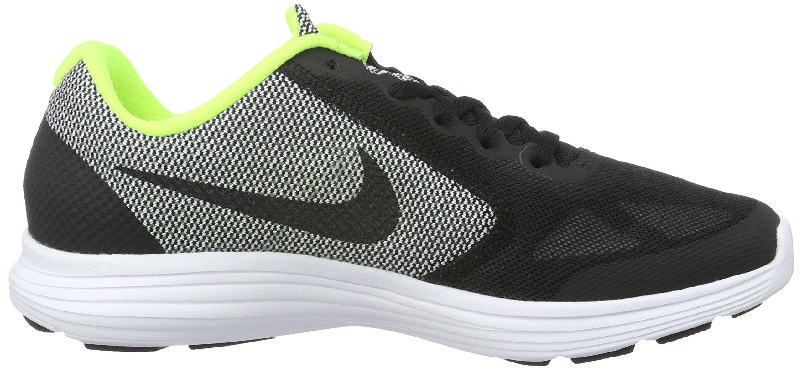 Nike Boys' Revolution 3 (GS) Running Shoe Black/White/Volt, 4.5 M US Big Kid by Nike (Image #6)