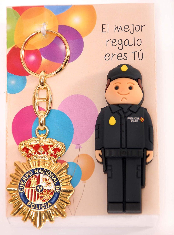 POLICIA Nacional ESPAÑOL USB de 16gb. de Memoria con Llavero Placa ...