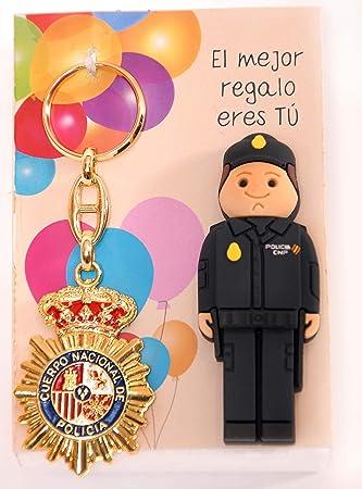 POLICIA Nacional ESPAÑOL USB de 16gb. de Memoria con Llavero Placa POLICIA.: Amazon.es: Electrónica