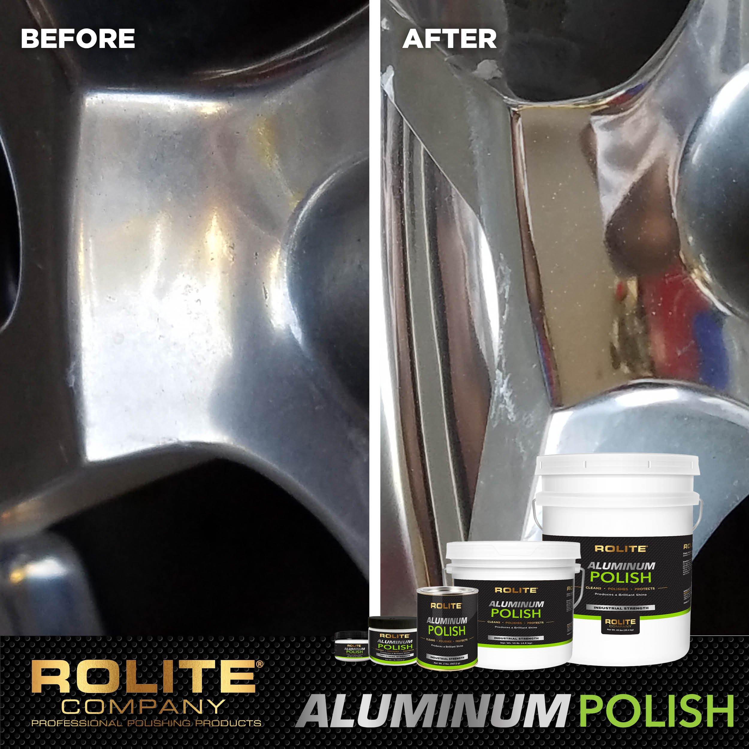 Rolite Aluminum Polish (1lb) for All Aluminum & Bare Metal Surfaces, Canoes, Jon Boats, Pontoons, Diamond Plate, Aluminum Non-Coated Wheels 6 Pack by Rolite (Image #6)