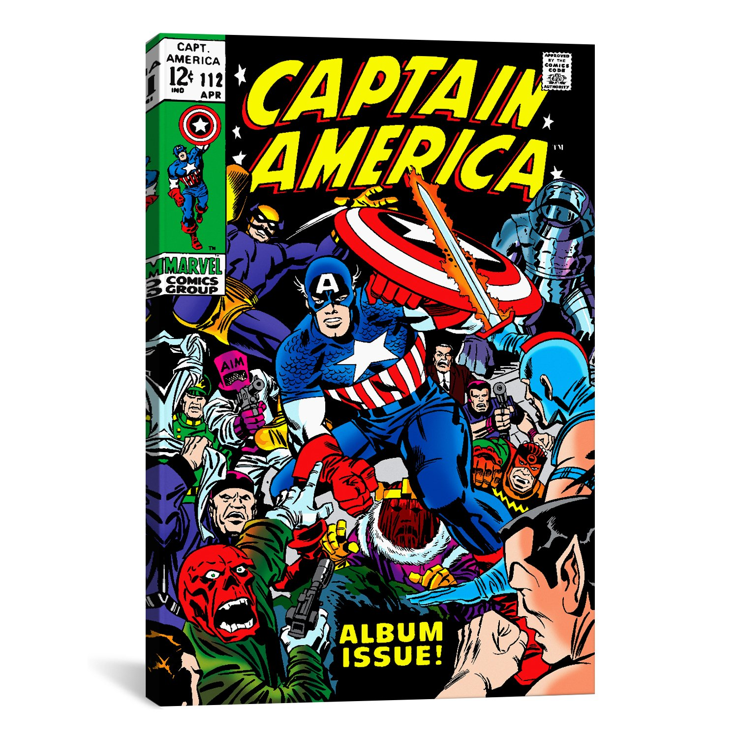 iCanvasART Marvel Comic Book Captain America Issue Cover No.112 by Marvel Comics Canvas Art Print 26 by 18-Inch