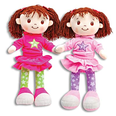 "Linzy Zoey 17"" Plush Rag Doll with Rosy Cheeks (One Randomly Selected): Toys & Games"