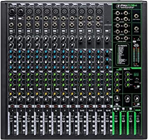 Mackie ProFXv3 Series, 16-Channel Professional Effects Mixer with USB, Onyx Mic Preamps and GigFX effects engine - Unpowered (ProFX16v3)