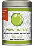 Wow Japanese Premium Grade Hand Ground Matcha Powder, 100g