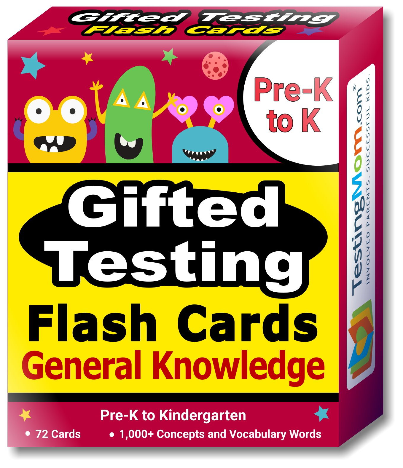 TestingMom.com Gifted Learning Flash Cards Bundle - Kindergarten-in-A-Box Set 2 - Verbal Concepts, General Knowledge, Spatial Concepts, Social Emotional Learning (Set 2) by TestingMom.com (Image #4)