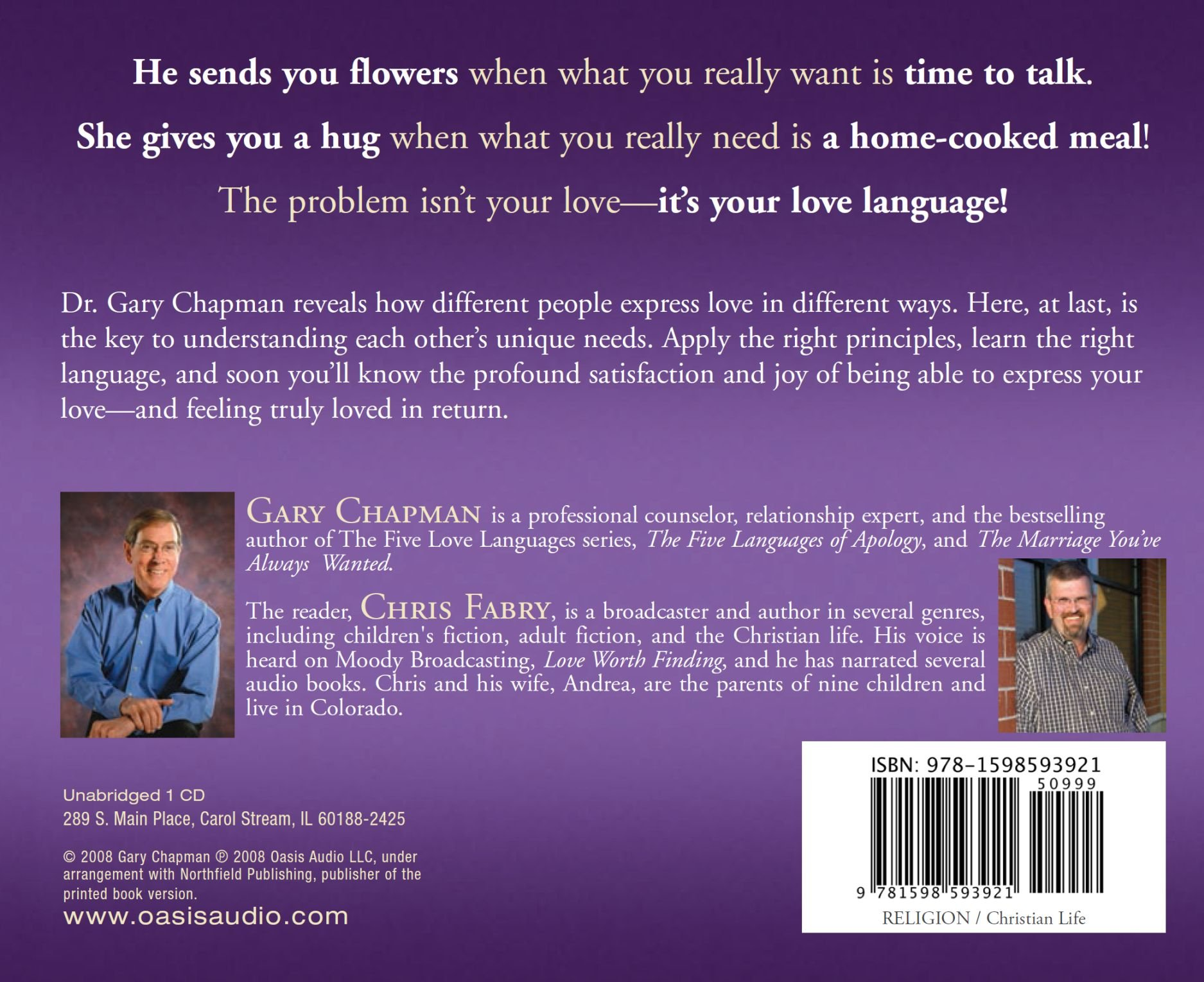 The Heart Of The Five Love Languages Gary Chapman Chris Fabry 9781598593921 Amazon Com Books