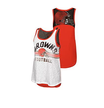 size 40 ba127 83149 Amazon.com : Cleveland Browns Women's In the Stands Tank Top ...