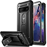 YOUMAKER Case for Galaxy S10, Kickstand Case with Built-in Screen Protector Heavy Duty Protection Shockproof Full Body Slim F