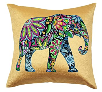 Amazon.com: hakoba Rich Multicolor Bordado elefante con 160 ...
