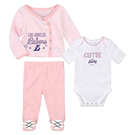 8353a468ada Amazon.com   Outerstuff Los Angeles Lakers Little Cutie Girl 3 Piece ...