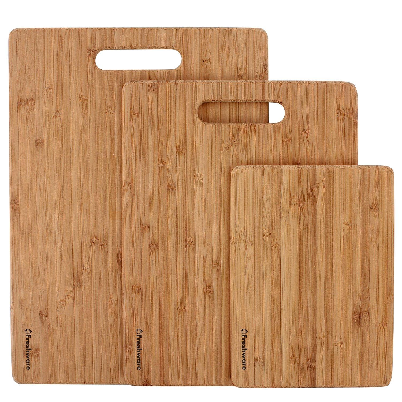 Freshware Bamboo Cutting Board, Set of 3 by Freshware (Image #2)